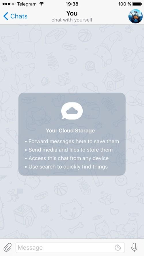 امکان ذخیره اطلاعات به تلگرام افزوده شد