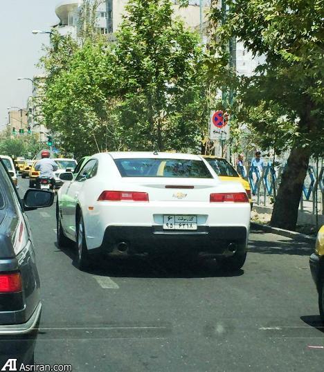 یک خودروی آمریکایی گذر موقت در خیابان های تهران (+عکس)