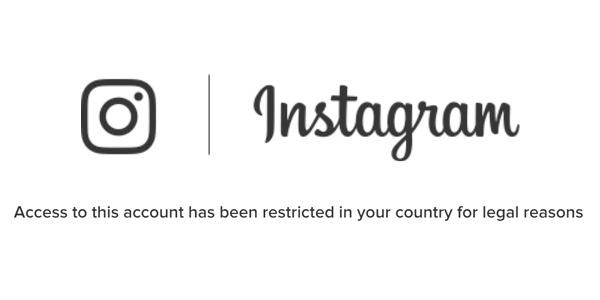 اینستاگرام نمایش برخی صفحات را در ایران مسدود کرد