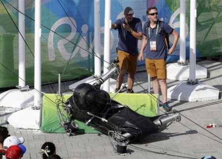 سقوط دوربین عنکبوتی المپیک 7 نفر را مجروح کرد