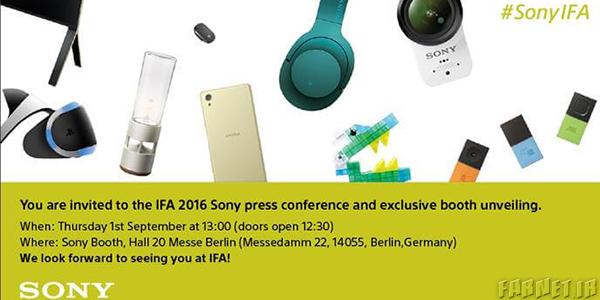 سونی برای مراسم IFA 2016 دعوتنامه فرستاد