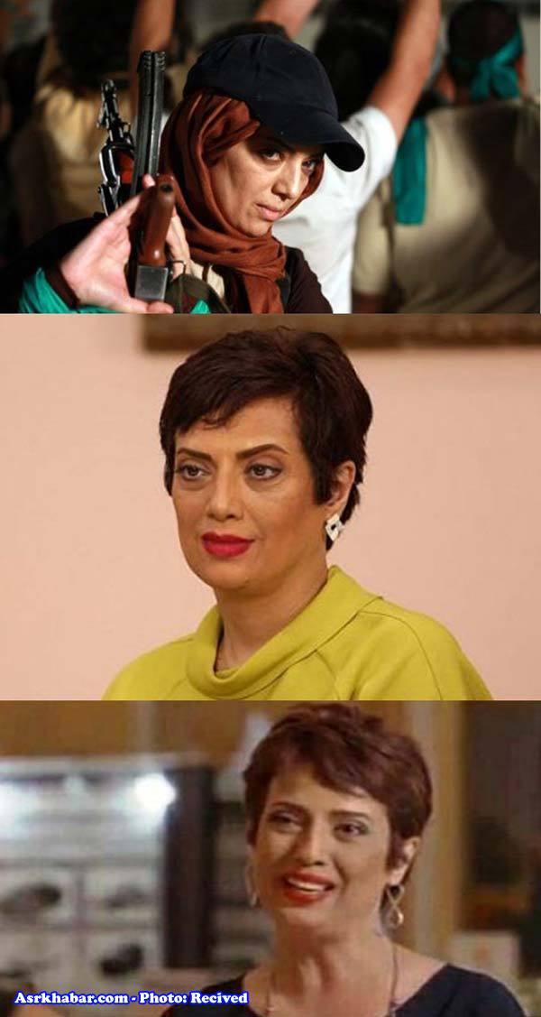 بازیگر ایرانی بدون حجاب در شبکه «جم» (عکس)