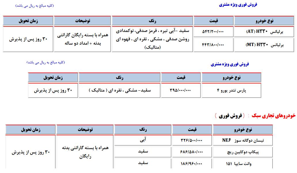 فروش ویژه محصولات سایپا به مناسبت هفته دولت (+جدول)