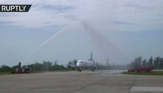 آغاز پرواز مسافربری میان آمریکا و کوبا بعد از 55 سال (+فیلم)