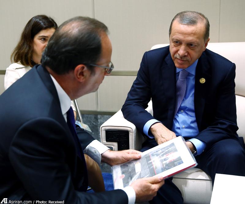 کتاب کودتا، هدیه اردوغان به اولاند(+عکس)