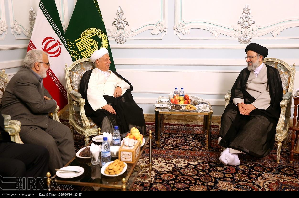 دیدار هاشمی رفسنجانی با رییسی در مشهد