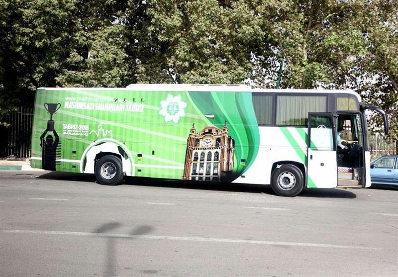 رونمایی از اتوبوس تیم ماشینسازی تبریز (عکس)