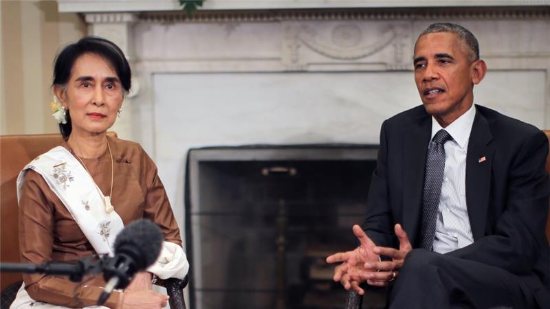 وعده اوباما به خانم سوچی : تحریم های میانمار برداشته می شود