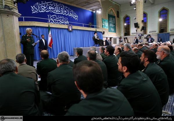 دیدار فرماندهان سپاه با مقام معظم رهبری