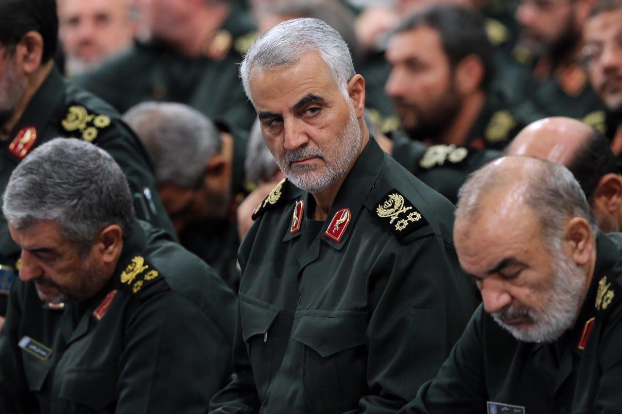 سردار قاسم سلیمانی در دیدار فرماندهان سپاه با مقام معظم رهبری (عکس)