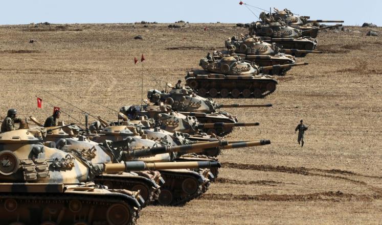Image result for تانک های ترکیه  در جرابلس