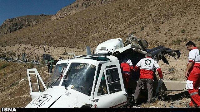 سقوط هلیکوپتر اورژانس مازندران / یک کشته