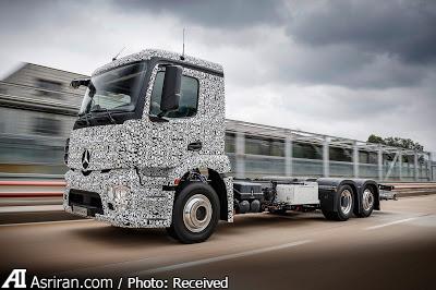 رونمایی از کامیونهای الکتریکی شهری بنز