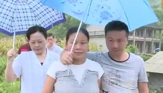 زن حامله عجیب در چین (+عکس)