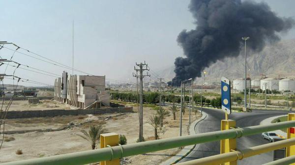 آتش سوزی در فازهای 15 و 16 پارس جنوبی