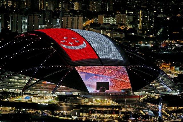 بزرگترین استادیوم گنبدی جهان با سقف الایدی (+عکس)