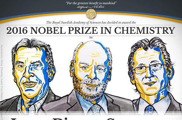 برندگان نوبل شیمی ۲۰۱۶ معرفی شدند