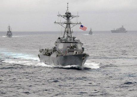 رزمایش دریایی بیسابقه آمریکا و کره جنوبی آغاز شد