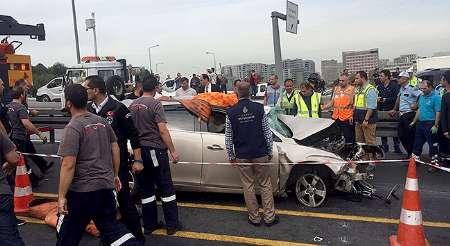 مرگ یک ایرانی در تصادف استانبول (+عکس)