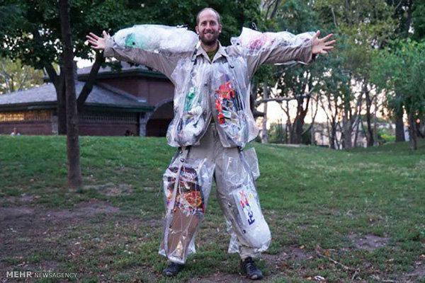 لباسی که از آشغال ساخته شده است
