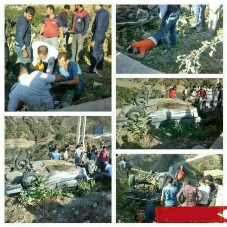 واژگونی خودروی مسافران عراقی در چالوس