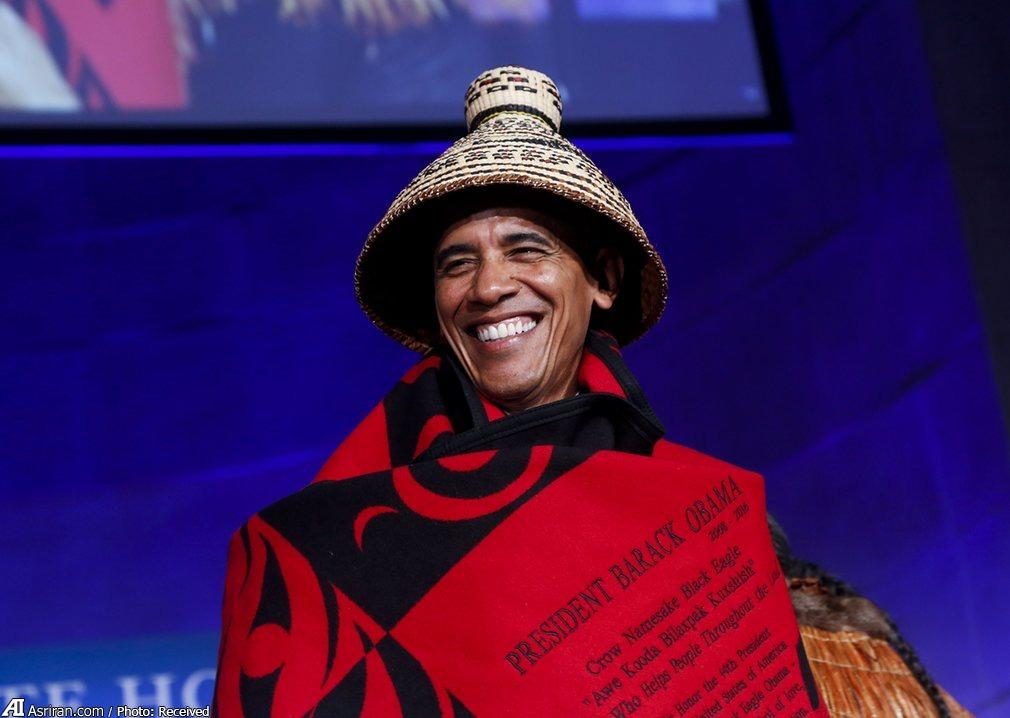 اوباما در لباس قبیله (+عکس)