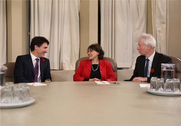 نخست وزیر کانادا با هما هودفر دیدار کرد