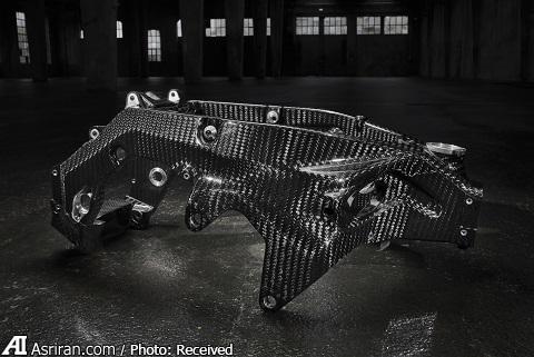 موتور فیبرکربنی بیامو در نمایشگاه میلان