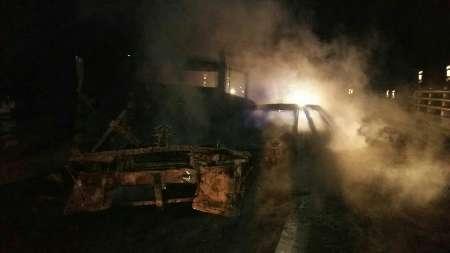 آتش-گرفتن-ناگهانی-پراید-در-میدان-معلم-لنگرود-فیلم