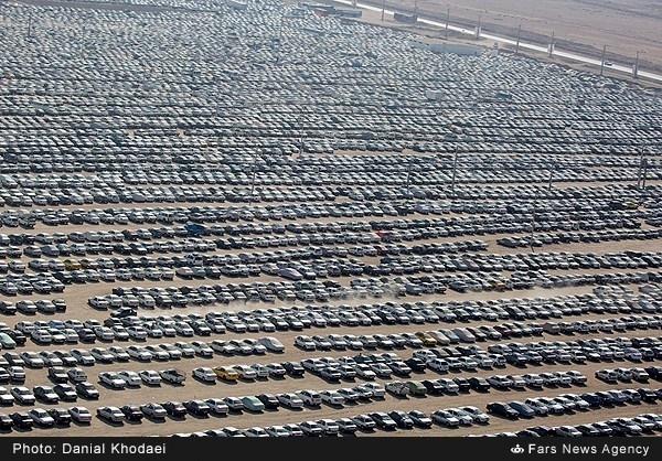 ترافیک خودروها در مرزهای خوزستان / تردد در شلمچه و چذابه به اوج خود رسید (+عکس)