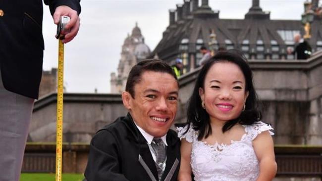 قدکوتاهترین زوج دنیا (+عکس)