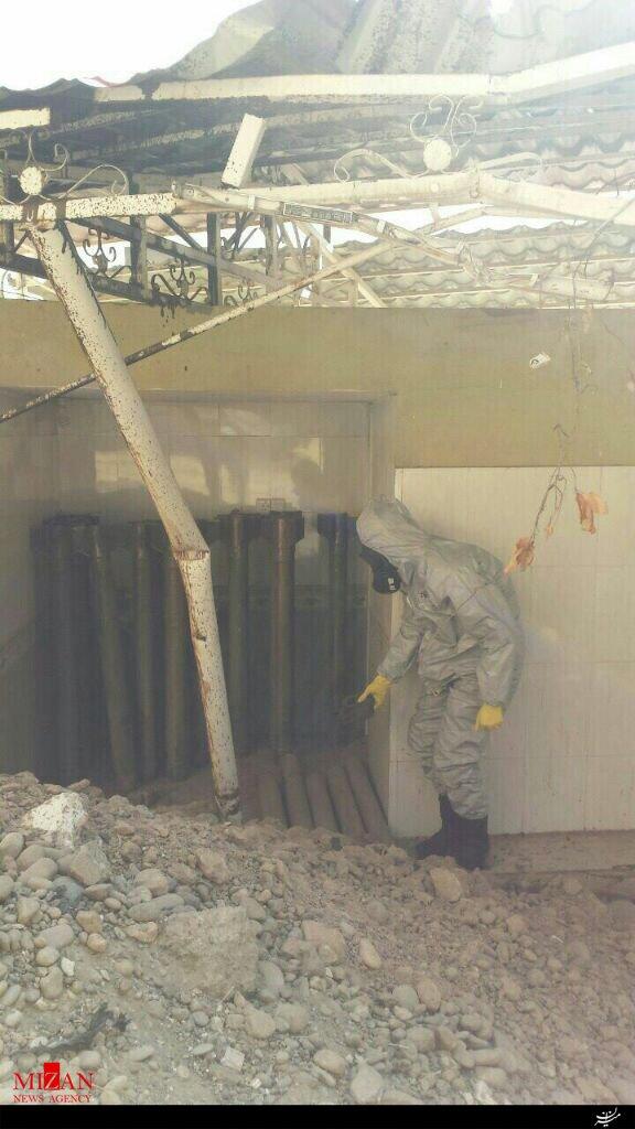 انهدام انبار سلاحهای شیمیایی داعش در موصل (+عکس)