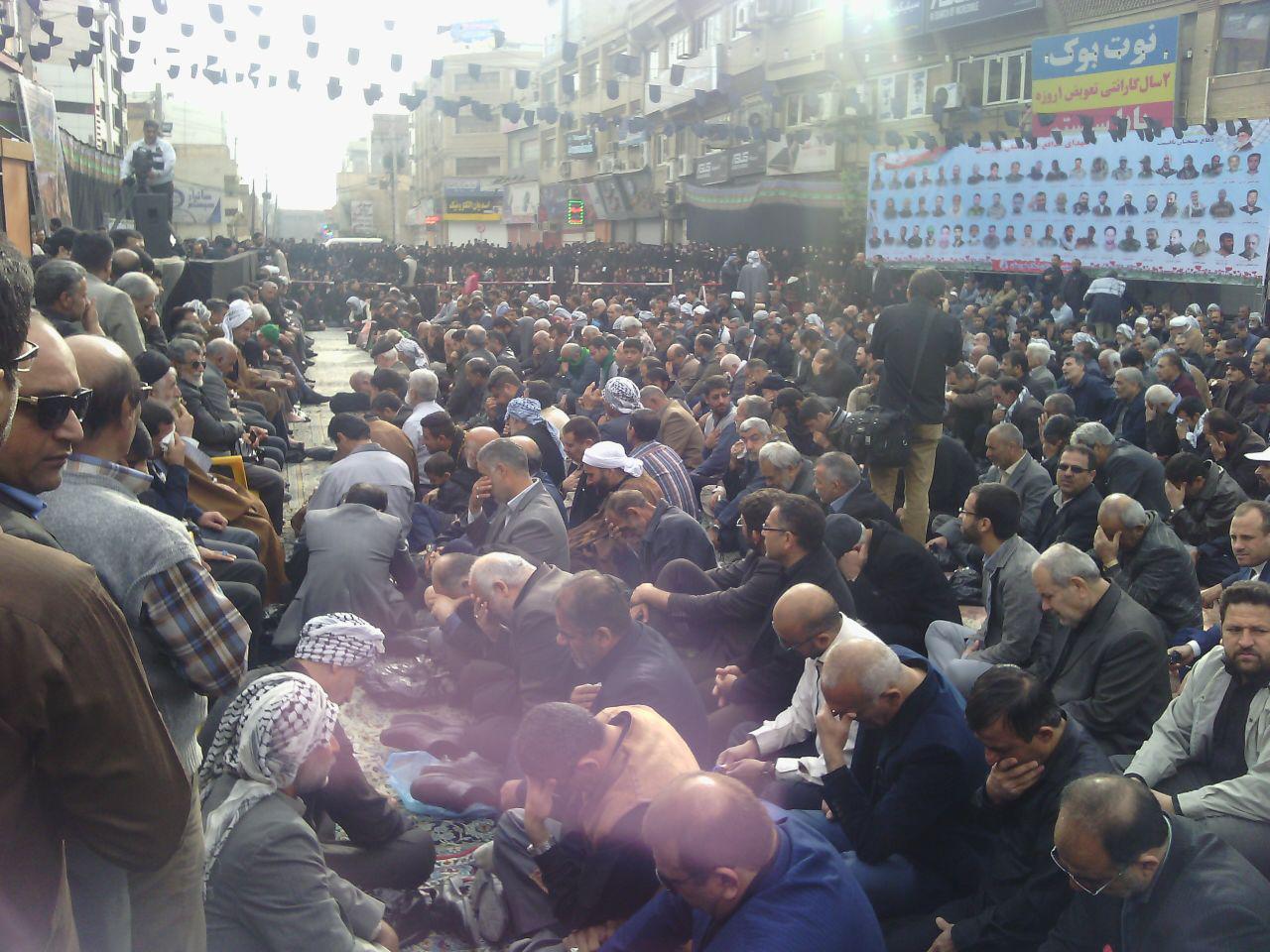 حضور وزیر کشور و وزیر اطلاعات در مراسم تشييع شهدا در اهواز (+عکس)