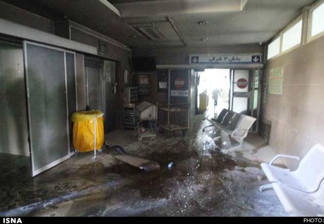 آتش سوزی درطبقه سوم بیمارستان اردیبهشت شيراز