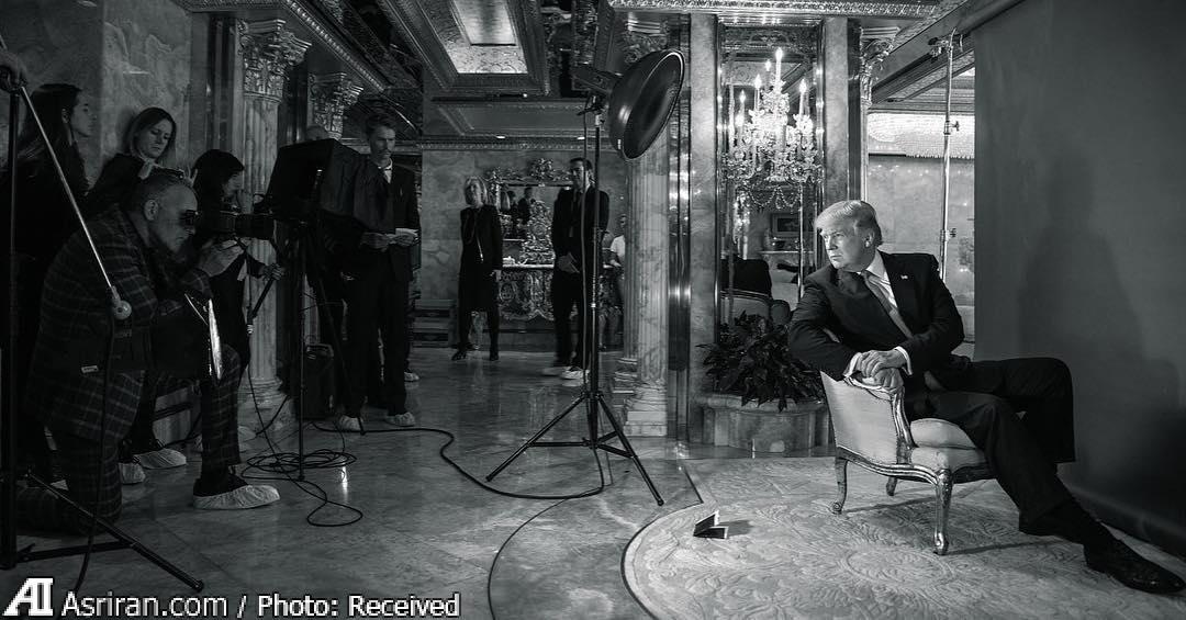 پشت صحنه عکاسی از ترامپ برای جلد تایم (عکس)