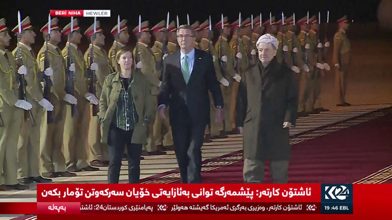 سفر وزیر دفاع آمریکا به کردستان عراق