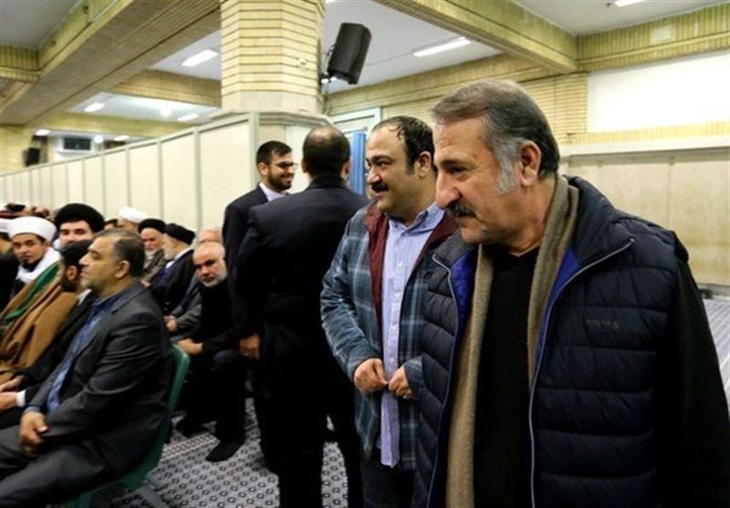 مهران غفوریان و مهران رجبی در دیدار میهمانان کنفرانس وحدت اسلامى با رهبری(عکس)