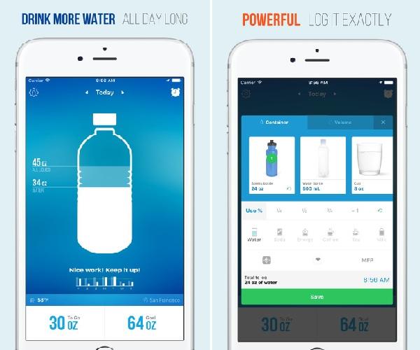 اپلیکیشنهایی که به نوشیدن آب بیشتر کمک میکنند