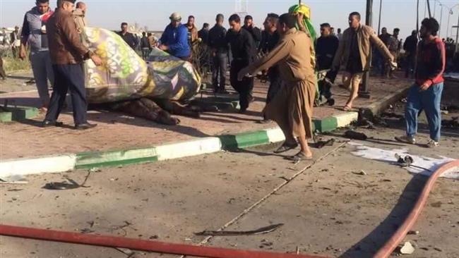 شهادت زائران ایرانی در انفجار انتحاری داعش در عراق (+عکس)