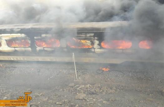 بیش از 100 کشته و زخمی در برخورد دو قطار مسافربری در سمنا