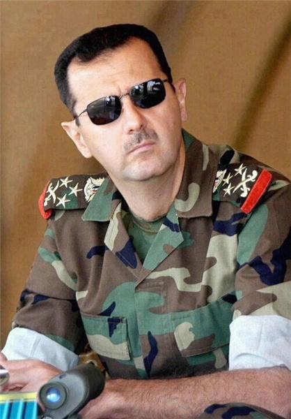 پرواز بشار اسد بر فراز حلب