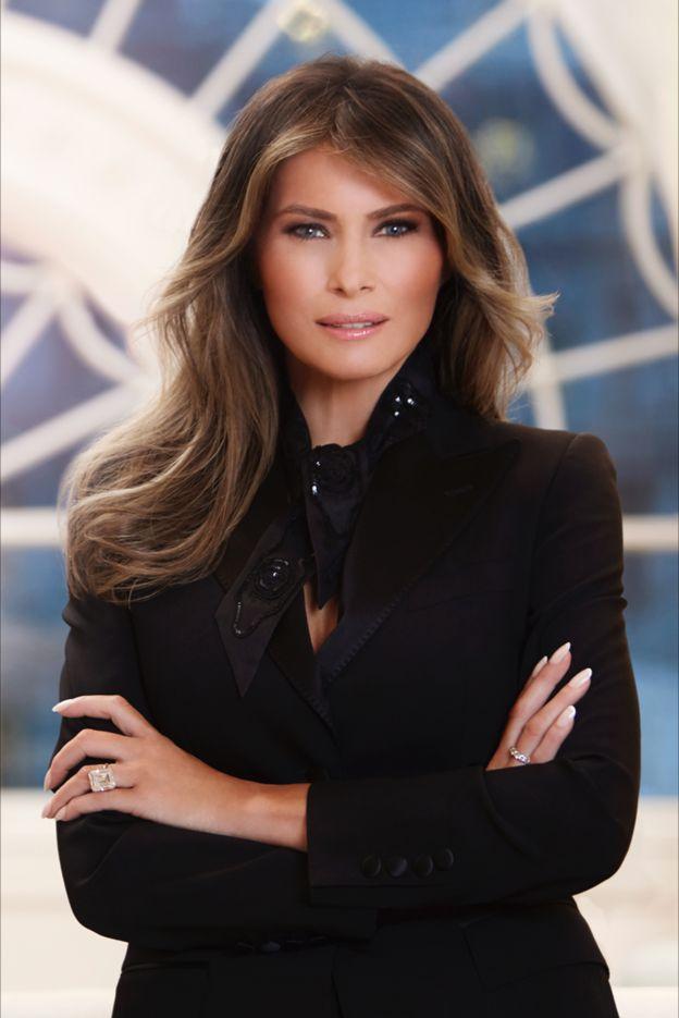 انتشار اولین عکس رسمی از همسر ترامپ