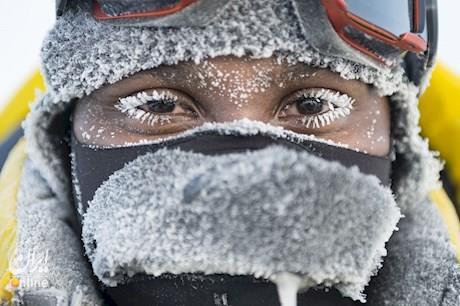 جوانان معترض به سیاست ضد محیط زیستی ترامپ در قطب شمال