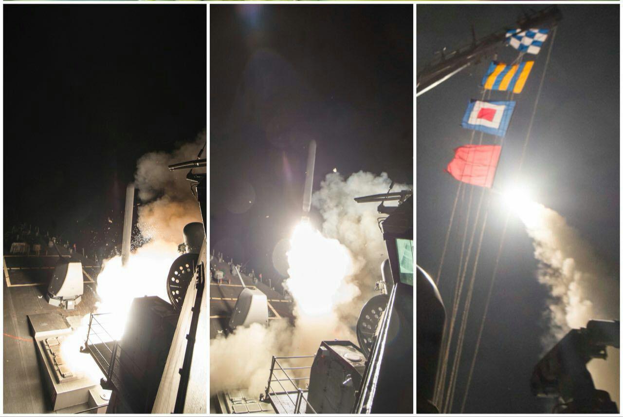 حمله موشکی آمریکا به مراکز ارتش بشار اسد