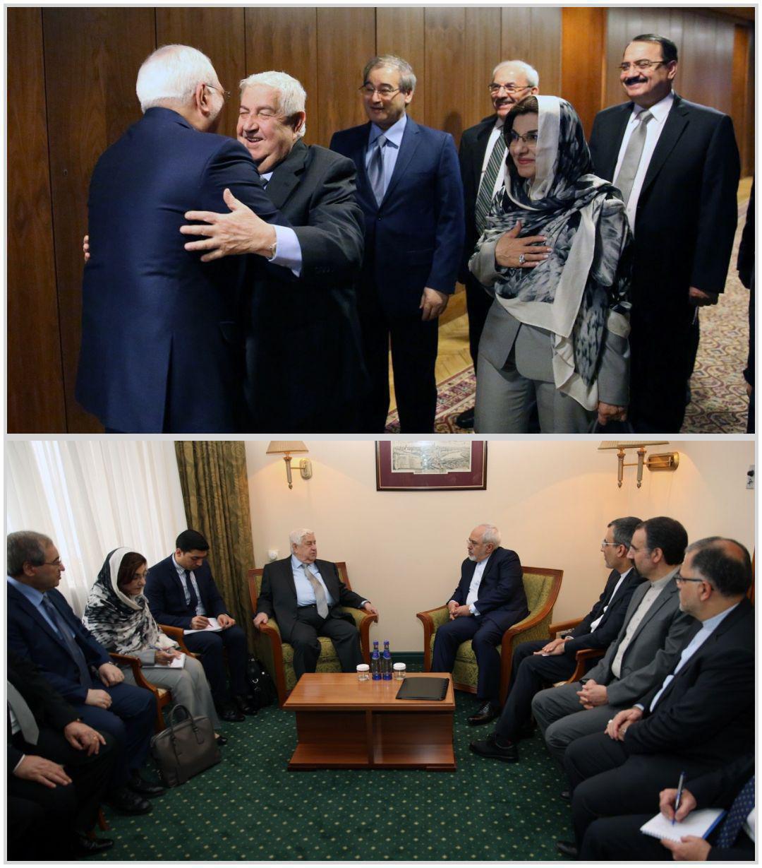 حجاب مشاور اسد در دیدار ظریف