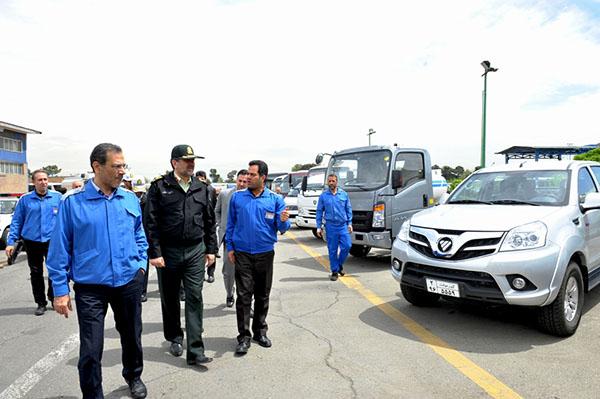 بازدیدفرمانده نیروی انتظامی تهران از ایران خودرو دیزل