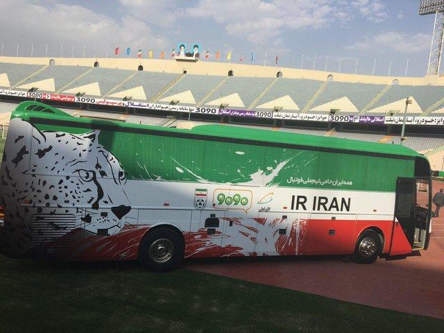 اتوبوس مدرن تیم ملی رسما رونمایی شد