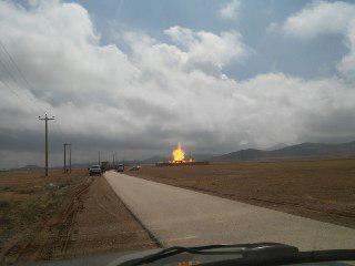 سوختن 2 نفر در انفجار ایستگاه گاز همدان