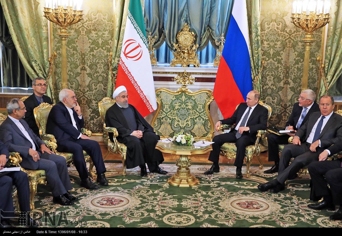 دیدار روسای جمهوری اسلامی ایران و روسیه (عکس)