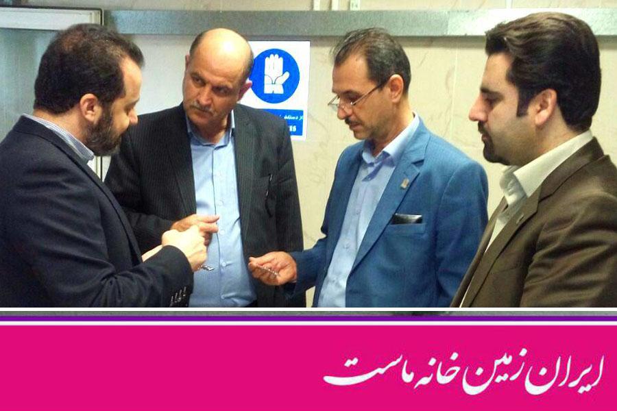 بازدید مدیران بانک ایرانزمین از شرکت پویان طب در کرمانشاه